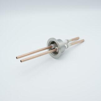 2 pin RF-feedthrough 8000Volt / 10 kW, DN40KF flange