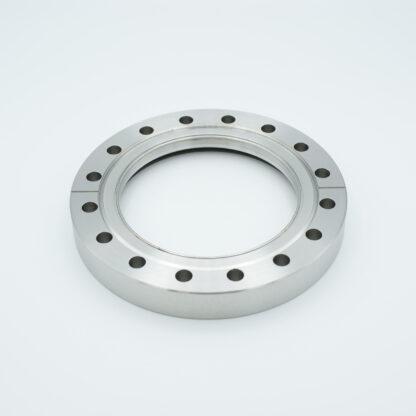 Zero length fused Silica viewport deep ultraviolet, DN100CF