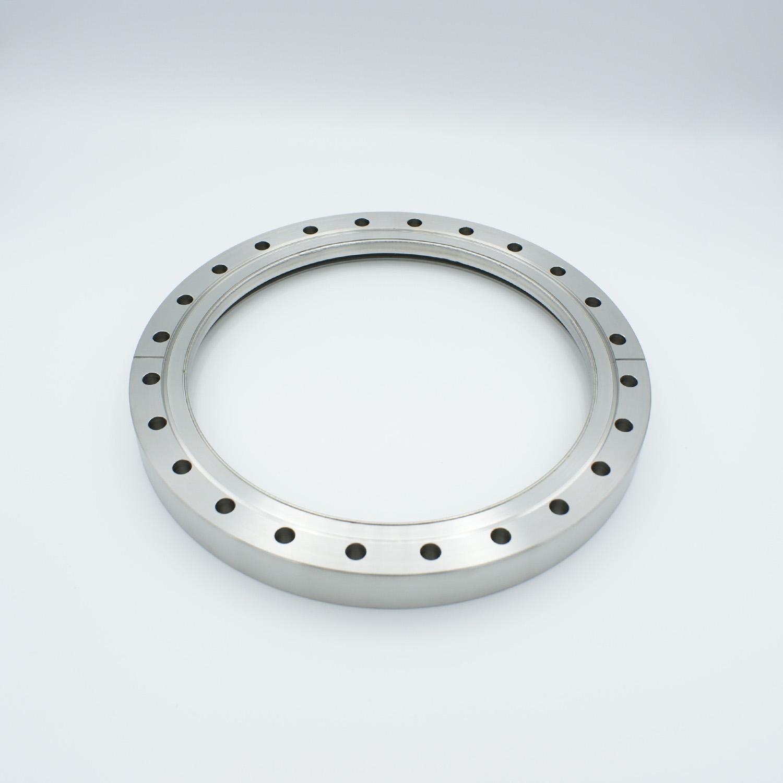 Zero length fused Silica viewport deep ultraviolet, DN200CF
