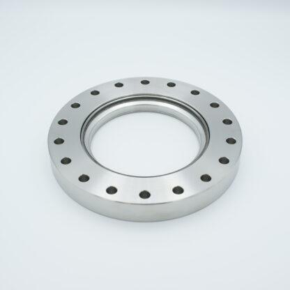 Zero length fused Silica viewport ultraviolet, DN125CF