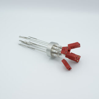 5 pair Thermocouple type-C feedthrough with both side connectors included, weld fitting