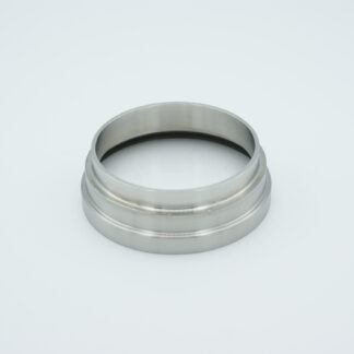 "Fused Silica viewport deep ultraviolet 2.37"" view diameter and 2.5"" diameter Stainless steel weld adapter"