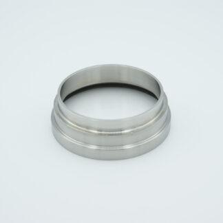 "Fused Silica viewport deep ultraviolet 2.37"" view diameter and 2.5"" diameter Stainless steel weld adapter"