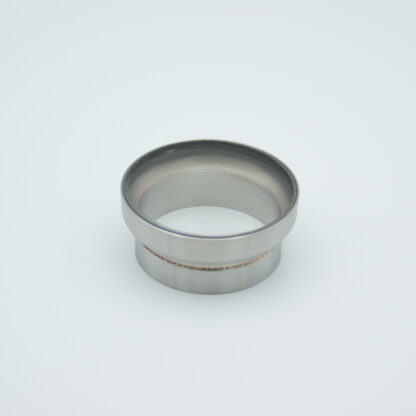 "Fused Silica viewport Excimer ultraviolet 2.37"" view diameter and 2.5"" diameter Stainless steel weld adapter"