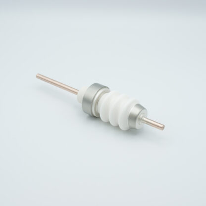 1 pin high voltage feedthrough 20000V / 55 Amp. Nickel conductor weld fitting