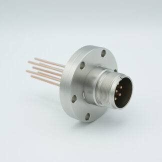7 pin feedthrough with air-side connector 700Volt / 23 Amp. DN40CF flange, Copper conductor