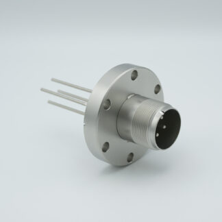 4 pin feedthrough with air-side connector 700Volt / 23 Amp. DN40CF flange, Nickel conductor
