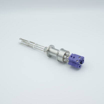 3 pair Thermocouple type-J feedthrough with both side connectors included, DN16KF flange