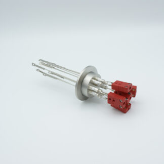 5 pair Thermocouple type-C feedthrough with both side connectors included, DN40KF flange