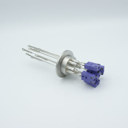 5 pair Thermocouple type-E feedthrough with both side connectors included, DN40KF flange