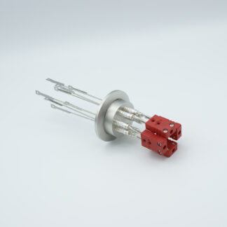 4 pair Thermocouple type-C feedthrough with both side connectors included, DN40KF flange