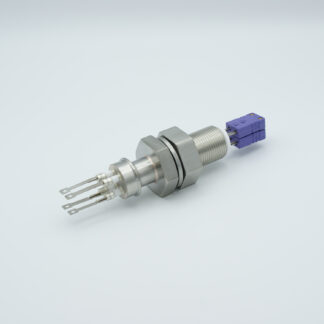 2 pair Thermocouple type-E feedthrough with both side connectors included, base plate fitting