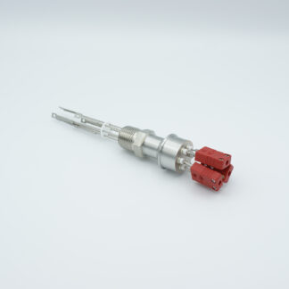 "3 pair Thermocouple type-C feedthrough with both side connectors included, NPT 1/2"" flange"