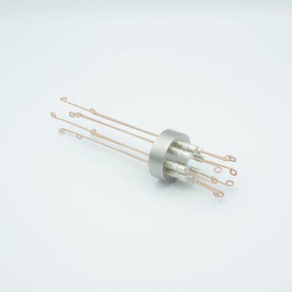 4 pair Thermocouple type-R or S feedthrough with both side connectors included, weld fitting