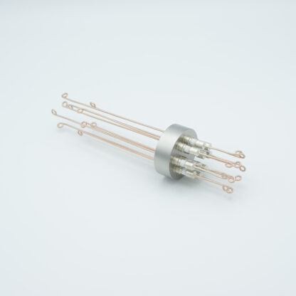 5 pair Thermocouple type-R or S feedthrough with both side connectors included, weld fitting