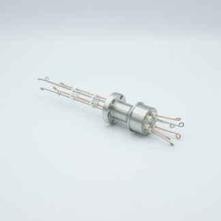 3 pair Thermocouple type-T feedthrough with both side connectors included, DN19CF flange