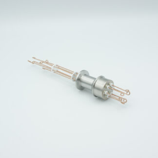 3 pair Thermocouple type-R or S feedthrough with both side connectors included, DN16KF flange