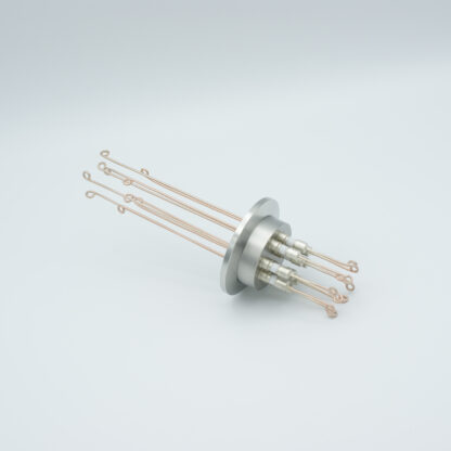 5 pair Thermocouple type-R or S feedthrough with both side connectors included, DN40KF flange