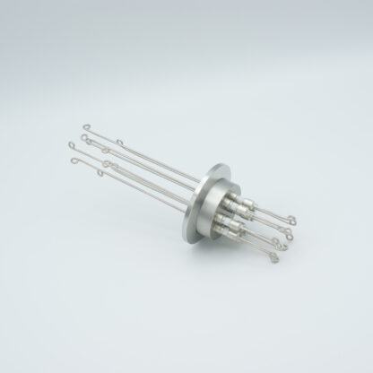 5 pair Thermocouple type-N feedthrough with both side connectors included, DN40KF flange