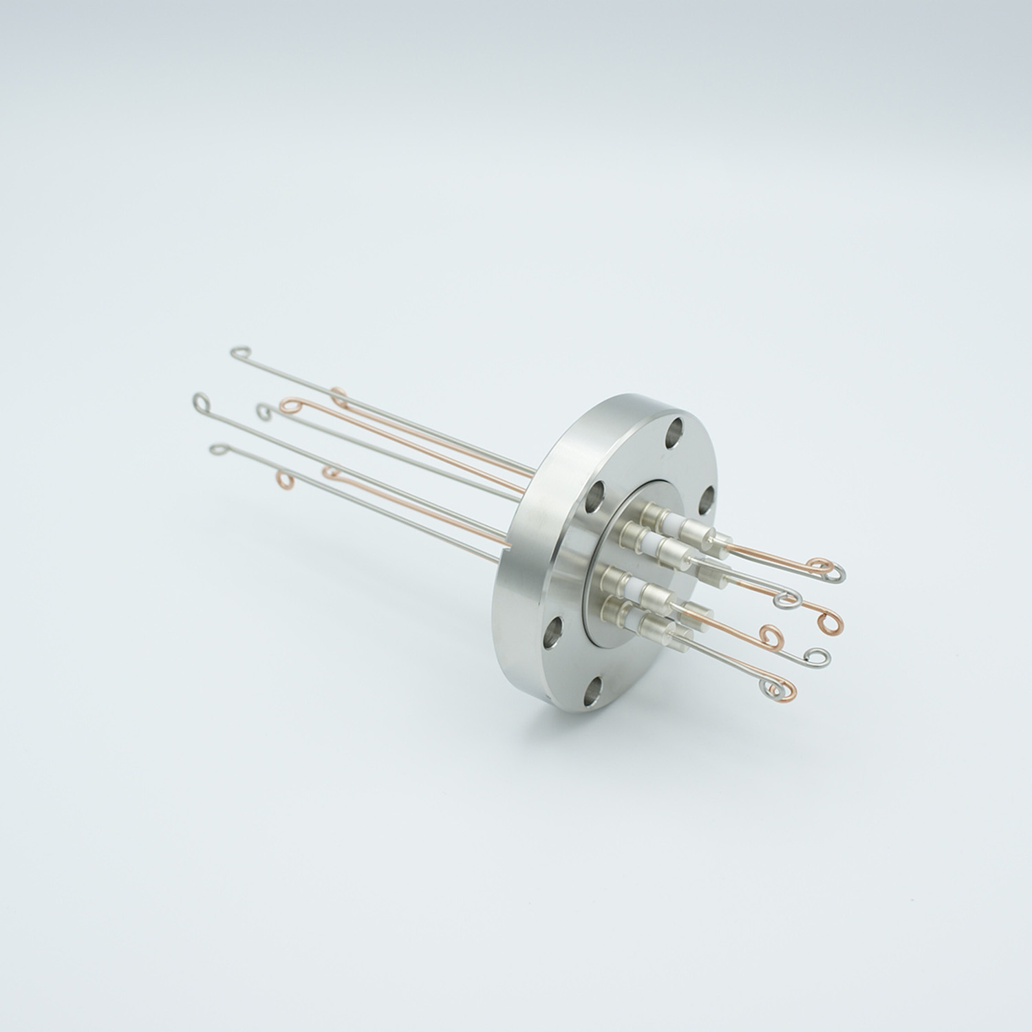 4 pair Thermocouple type-T feedthrough with both side connectors included, DN40CF flange