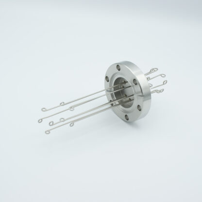 4 pair Thermocouple type-N feedthrough with both side connectors included, DN40CF flange