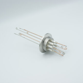 4 pair Thermocouple type-T feedthrough with both side connectors included, DN40KF flange
