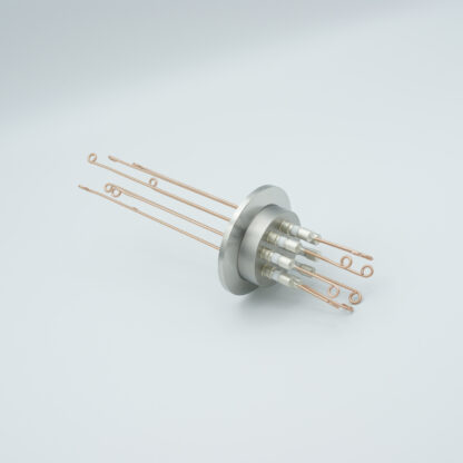 4 pair Thermocouple type-R or S feedthrough with both side connectors included, DN40KF flange