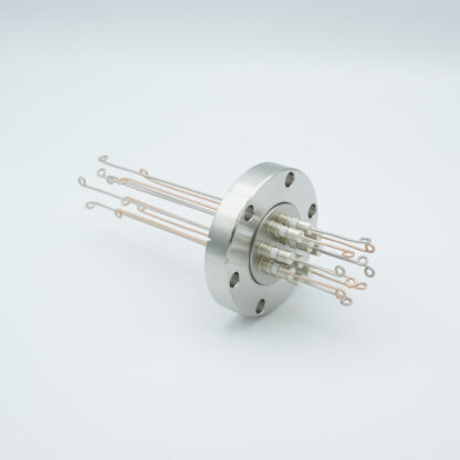 5 pair Thermocouple type-T feedthrough with both side connectors included, DN40CF flange