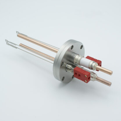 2 pair Thermocouple type-C and 1 pair copper feedthrough 5000V, with TC connectors included, DN40CF flange