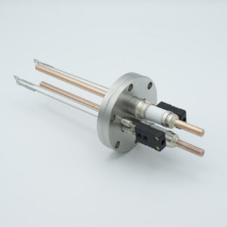 2 pair Thermocouple type-J and 1 pair copper feedthrough 5000V, with TC connectors included, DN40CF flange
