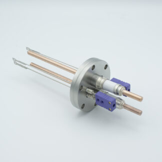 2 pair Thermocouple type-E and 1 pair copper feedthrough 5000V, with TC connectors included, DN40CF flange