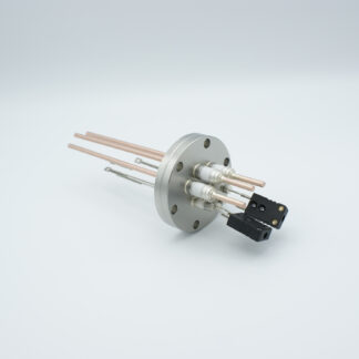 2 pair Thermocouple type-E and 3 copper power pins feedthrough 5000V, with TC connectors included, DN40CF flange