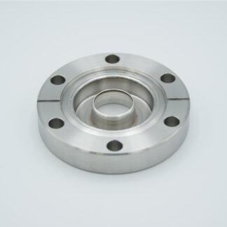 "Zero-length UV-grade Sapphire 0,77"" view diameter, DN40CF"