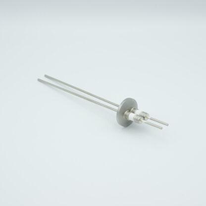 2 pin Molybdenum conductor feedthrough 5000Volt / 28 Amp. DN16KF flange