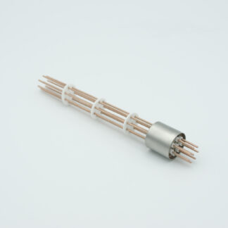 8 pin Copper conductor feedthrough 1000V / 25 Amp. weld fitting