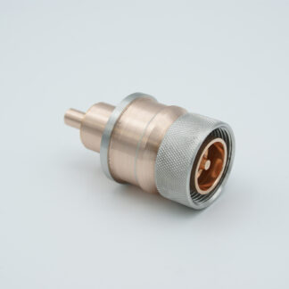 "7/16"" DIN Coaxial Feedthrough 50ohm DC to 7.5 GHz 2700 VRM 100 Watt weld fitting"