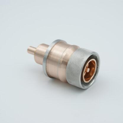 "7/16"" DIN Coaxial Feedthrough 50ohm DC to 7.5 GHz 2700 VRM 100 Watt weld fitting"