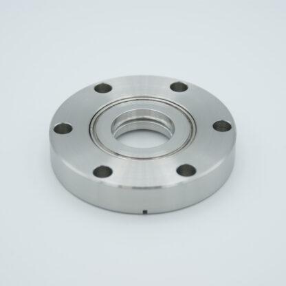 "Magnesium Fluoride viewport 157 Grade Vacuum Optic 0.90"" View diameter DN40CF"