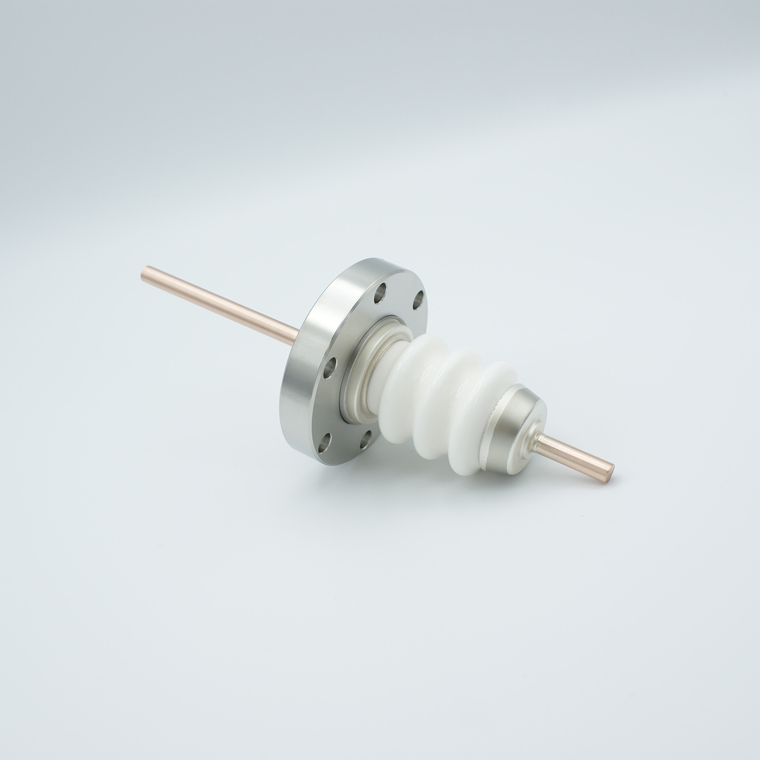 1 pin high voltage feedthrough 20000Volt / 180 Amp. Copper conductor DN40CF flange