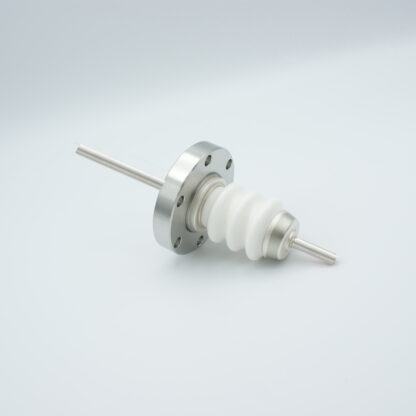 1 pin high voltage feedthrough 20000V / 55 Amp. Nickel conductor DN40CF flange