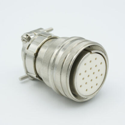 """MS circular vacuum side connector, 10 pair Thermocouple, type E, accepts 0.056"""" dia. pins"""