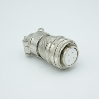 """MS circular vacuum side connector, 2 pair Thermocouple, type J, accepts 0.056"""" dia. pins"""
