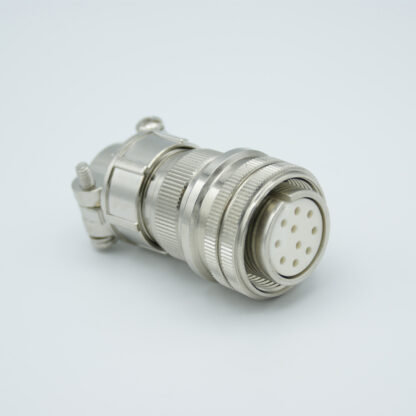 """MS circular vacuum side connector, 5 pair Thermocouple, type E, accepts 0.056"""" dia. pins"""