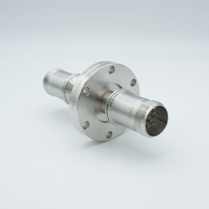 5 pair Thermocouple type-K feedthrough double ended, including both side MS connectors, DN40CF flange