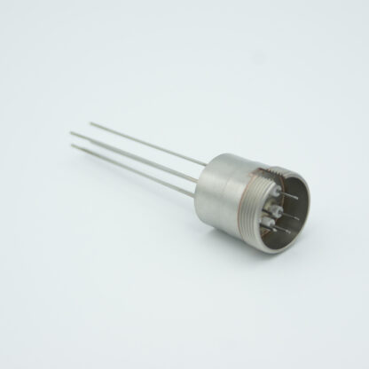 5 pin feedthrough with air-side connector 500Volt / 3,5 Amp, weld fitting