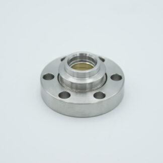 Zinc Selenide viewport, DN19CF non magnetic flange
