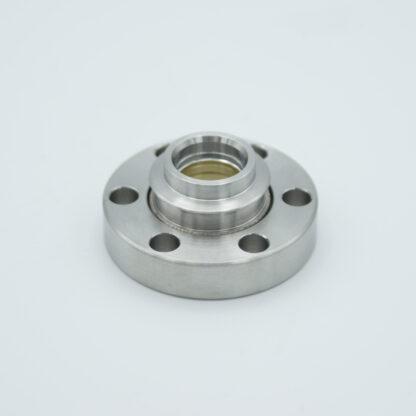 Zinc Selenide viewport (AR coated 8-12 micron), DN19CF non magnetic flange