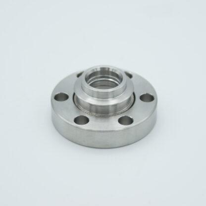 Calcium Fluoride viewport, DN19CF non magnetic flange