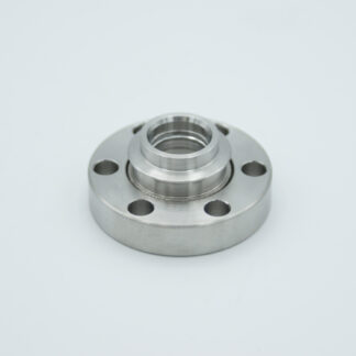 Magnesium Fluoride viewport, DN19CF non magnetic flange