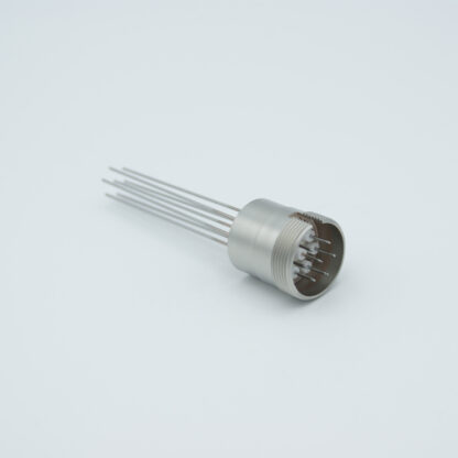 7 pin feedthrough with air-side connector 500Volt / 3,5 Amp, weld fitting